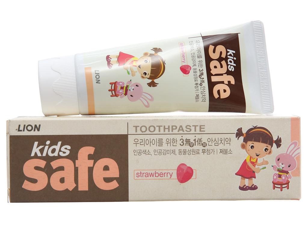 Kem đánh răng cho bé Kids Safe hương dâu 90g 2