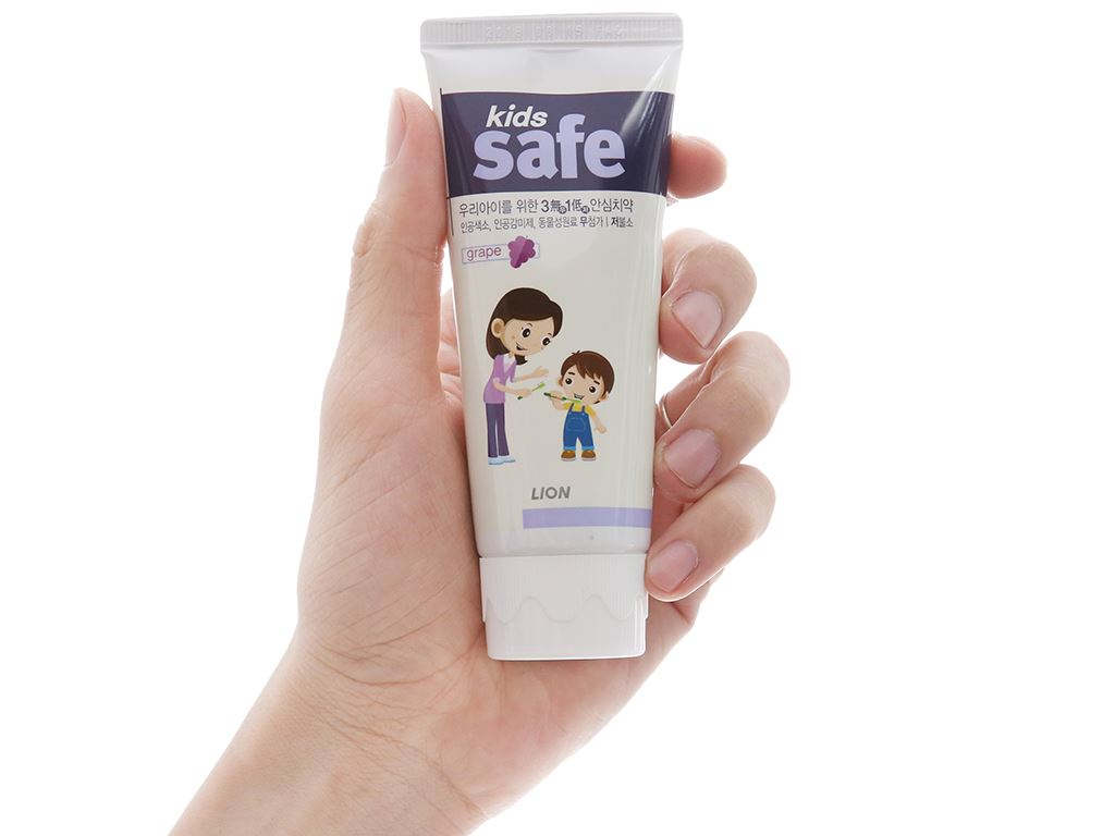 Kem đánh răng cho bé Kids Safe ngừa sâu răng nho 90g 4