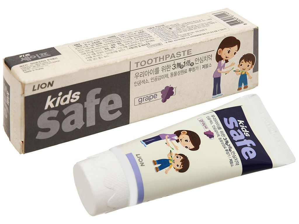 Kem đánh răng cho bé Kids Safe ngừa sâu răng nho 90g 1