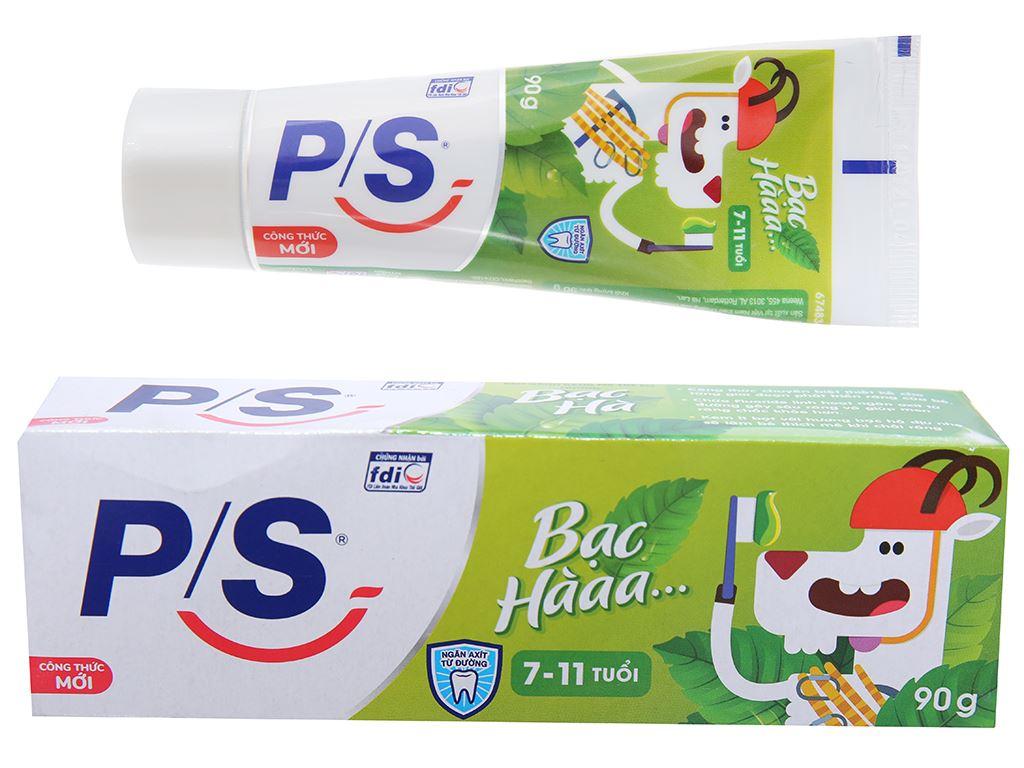 Kem đánh răng cho bé từ 7 - 11 tuổi P/S hương bạc hà 90g 1