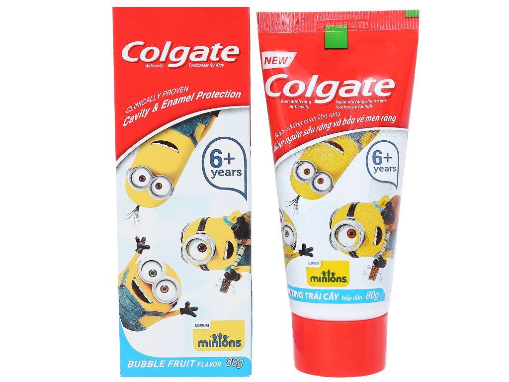 Kem đánh răng cho bé trên 6 tuổi Colgate Minions hương trái cây 80g 1