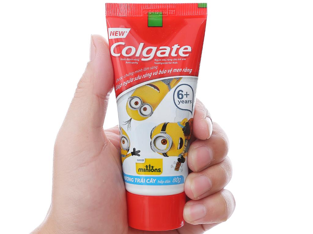 Kem đánh răng cho bé trên 6 tuổi Colgate Minions hương trái cây 80g 4