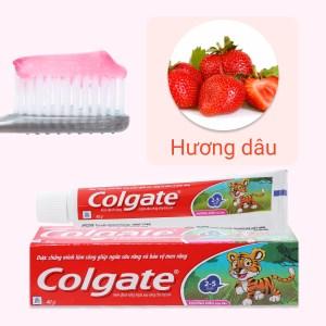 Kem đánh răng cho bé từ 2 - 5 tuổi Colgate Tiger hương dâu 40g