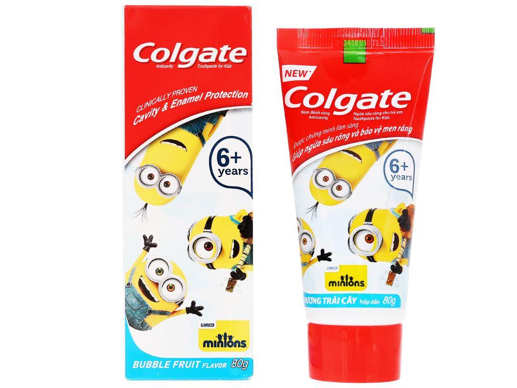 Bộ bàn chải kem đánh răng cho bé Colgate Minions 80g 4