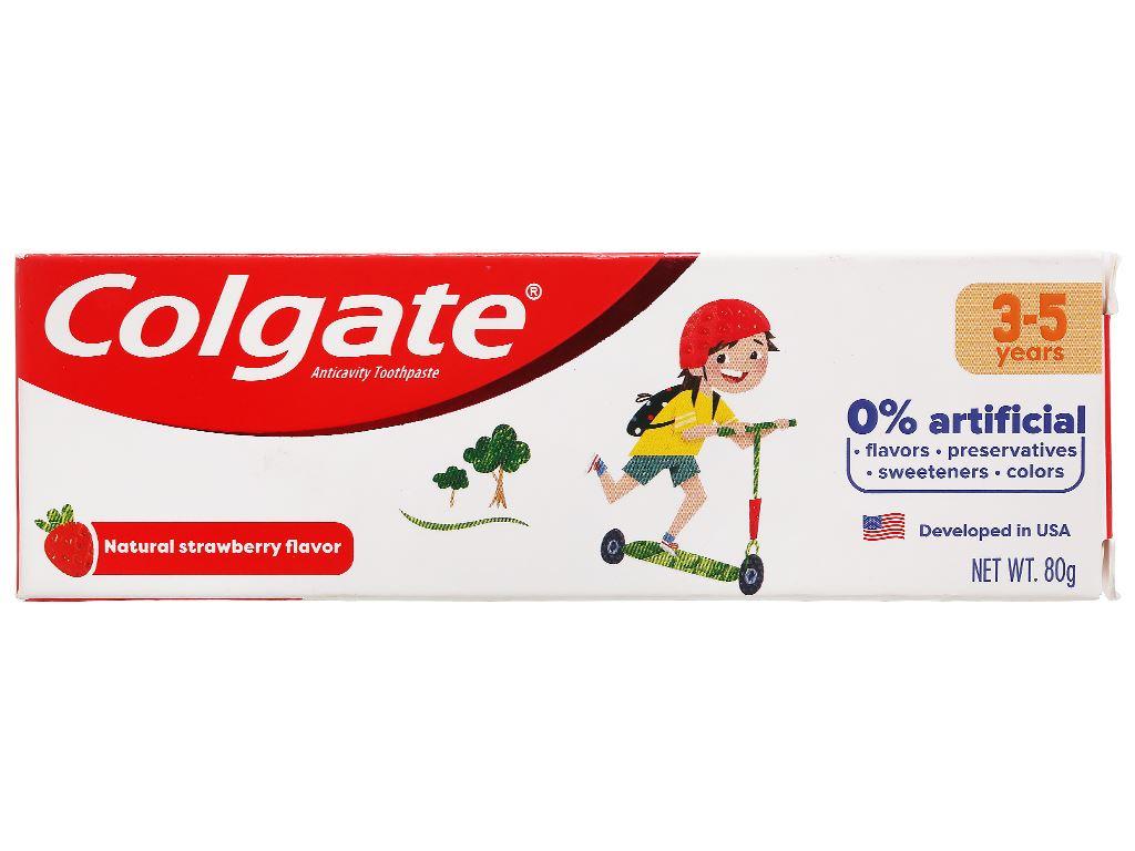 Kem đánh răng cho bé từ 3 - 5 tuổi Colgate hương dâu 80g 2