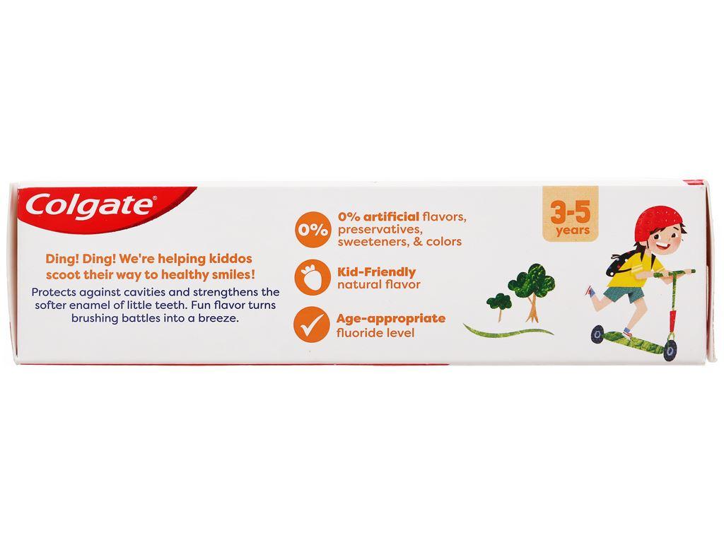Kem đánh răng cho bé từ 3 - 5 tuổi Colgate hương dâu 80g 4