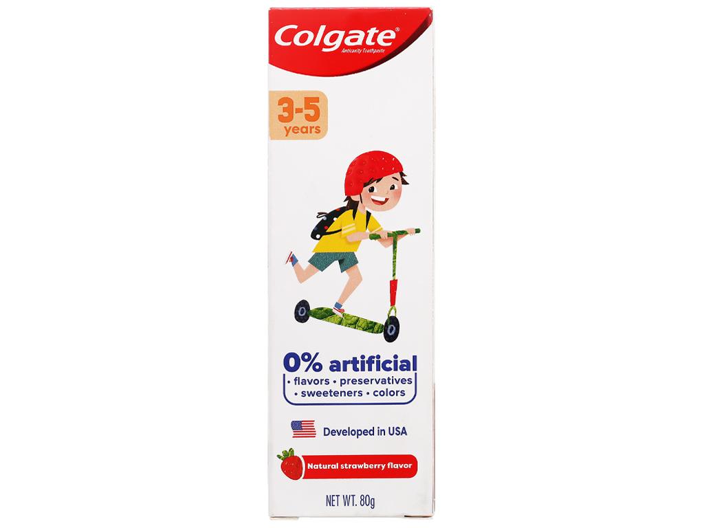 Kem đánh răng cho bé từ 3 - 5 tuổi Colgate hương dâu 80g 5