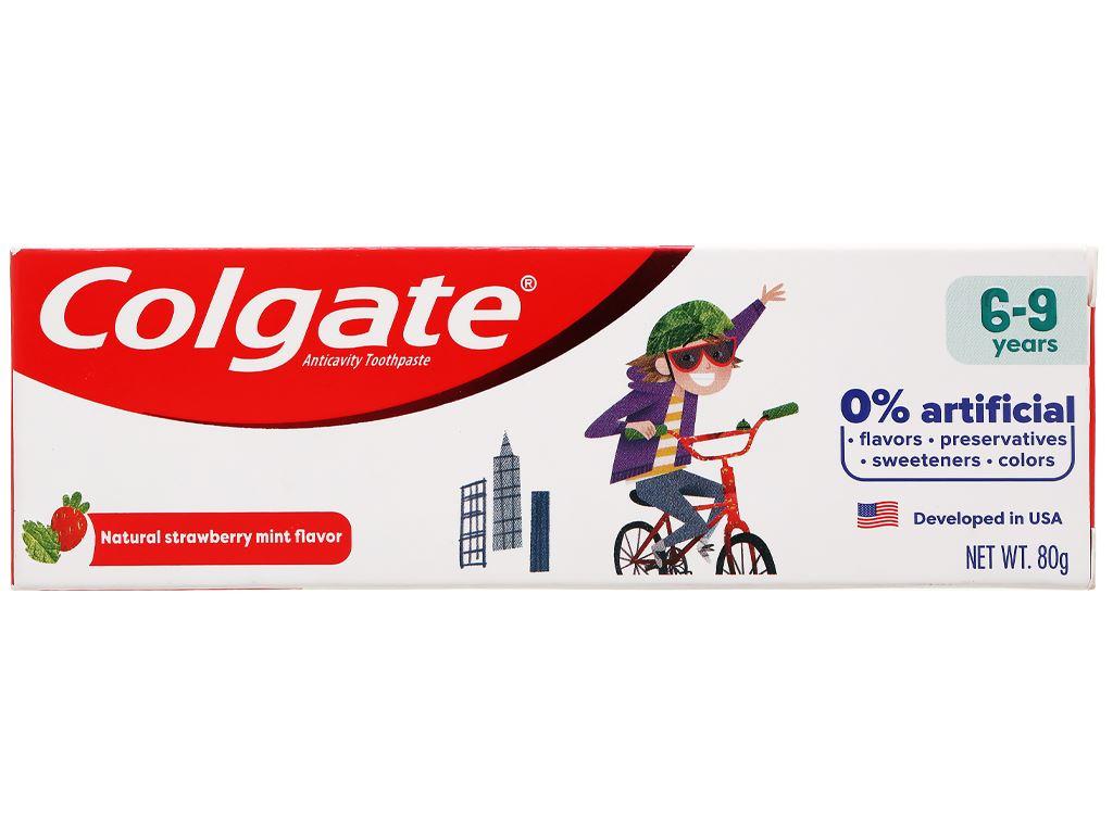 Kem đánh răng cho bé từ 6 - 9 tuổi Colgate hương dâu bạc hà 80g 2