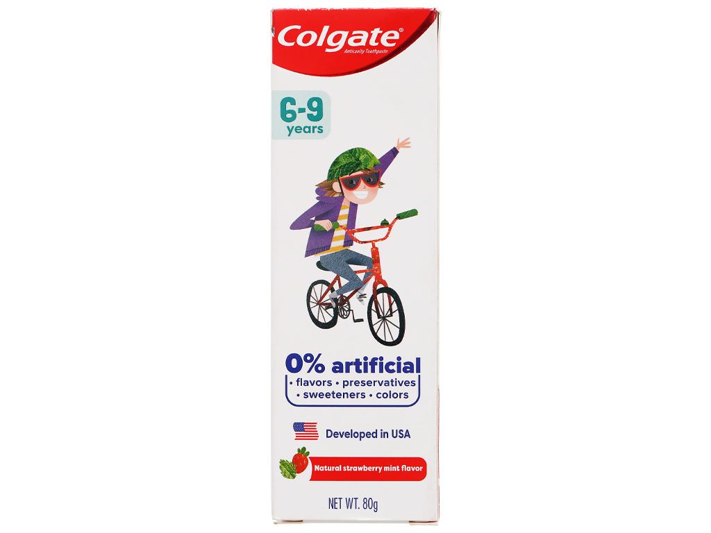 Kem đánh răng cho bé từ 6 - 9 tuổi Colgate hương dâu bạc hà 80g 5