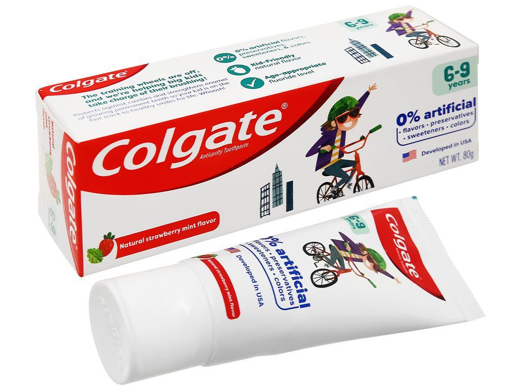 Kem đánh răng cho bé từ 6 - 9 tuổi Colgate hương dâu bạc hà 80g 1