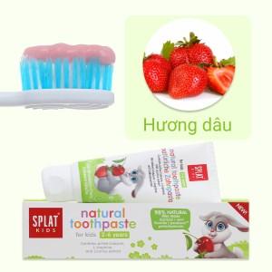 Kem đánh răng tự nhiên cho bé từ 2 - 6 tuổi Splat Kids hương dâu 50ml