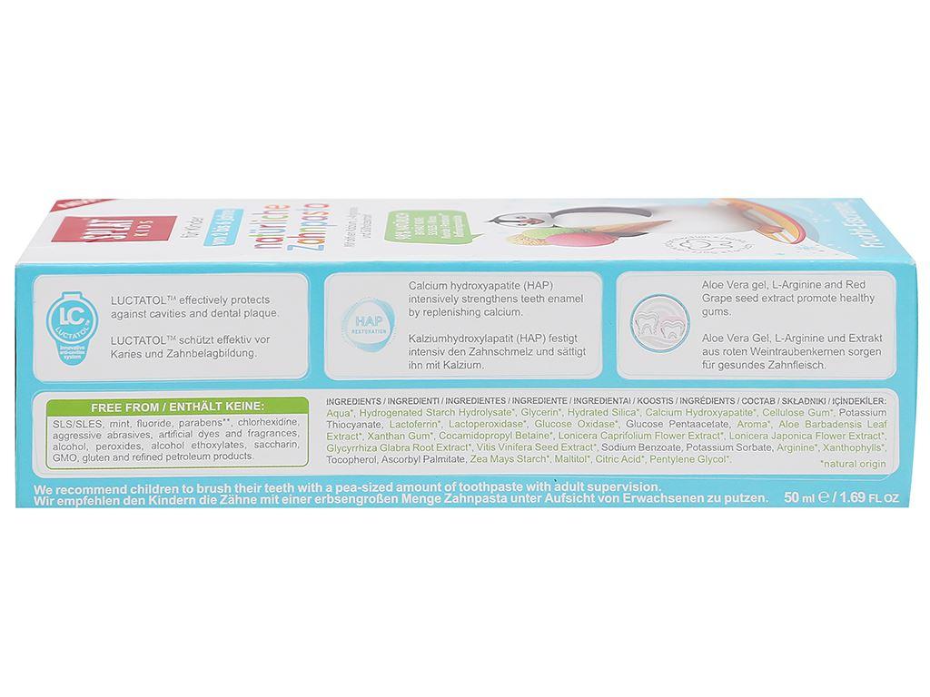 Kem đánh răng tự nhiên cho bé từ 2 - 6 tuổi Splat Kids hương kem trái cây 50ml 3
