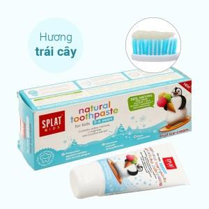 Kem đánh răng tự nhiên cho bé từ 2 - 6 tuổi Splat Kids hương kem trái cây 50ml