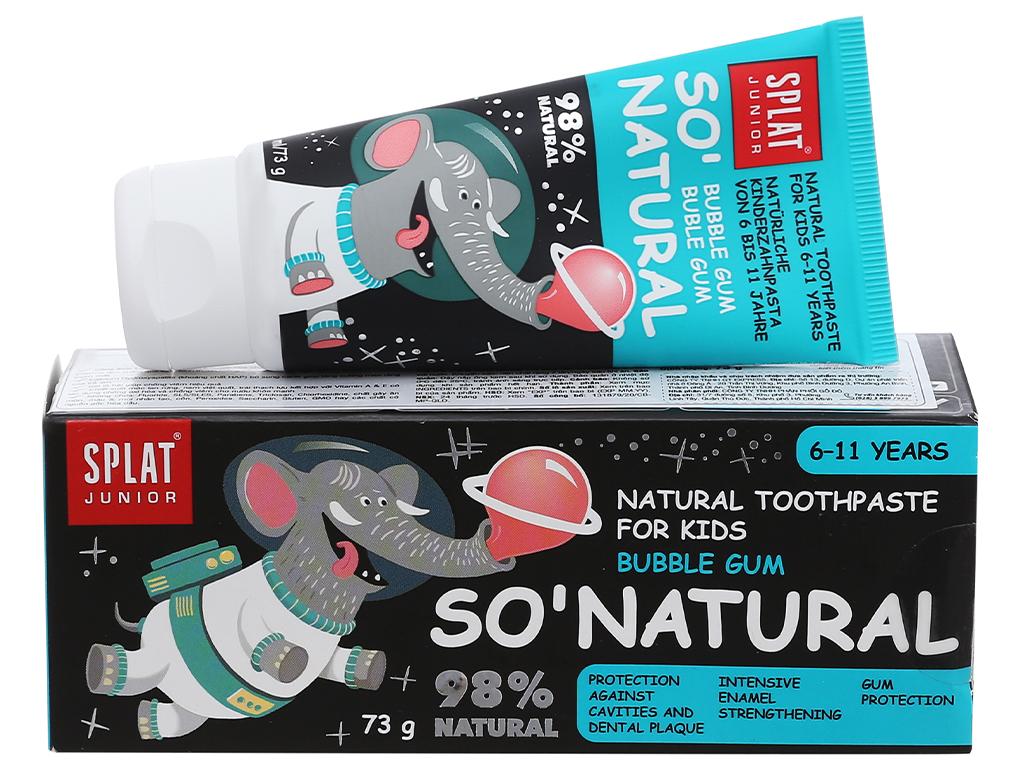 Kem đánh răng tự nhiên cho bé từ 6 - 11 tuổi Splat Jonior bubble gum 73g 1