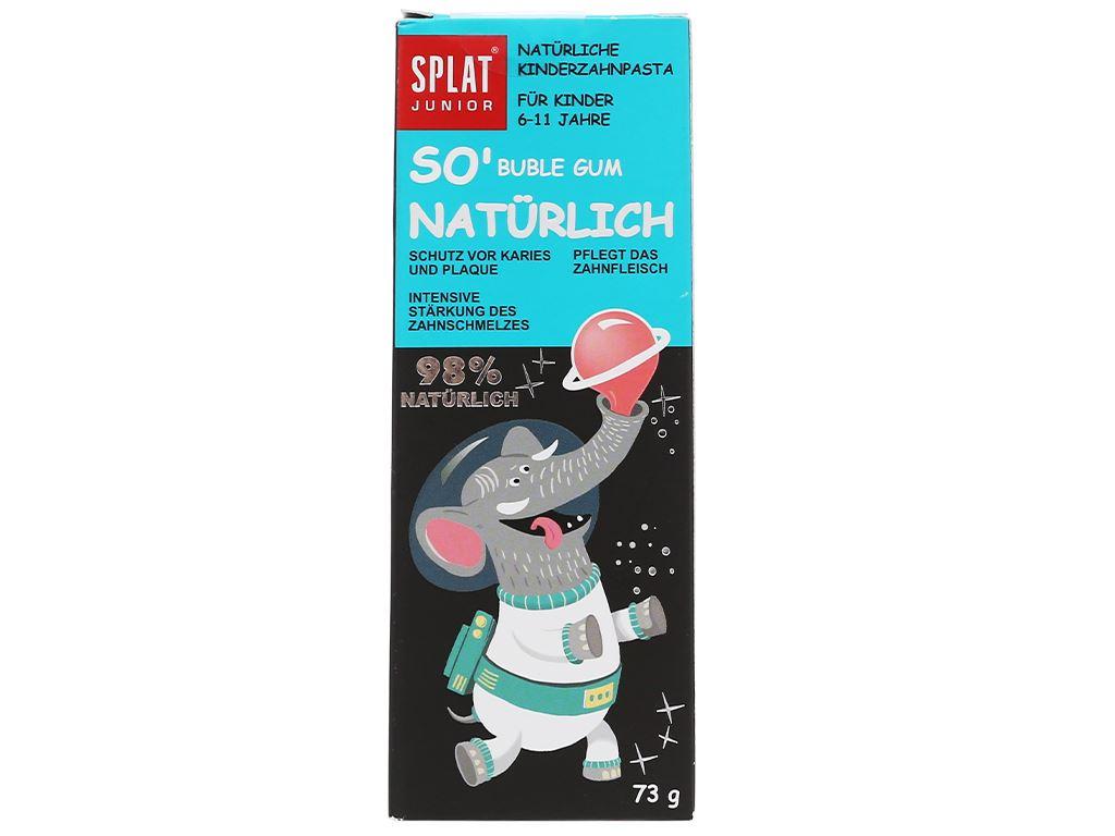 Kem đánh răng tự nhiên cho bé từ 6 - 11 tuổi Splat Jonior bubble gum 73g 2