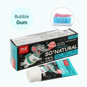 Kem đánh răng tự nhiên cho bé từ 6 - 11 tuổi Splat Jonior bubble gum 73g