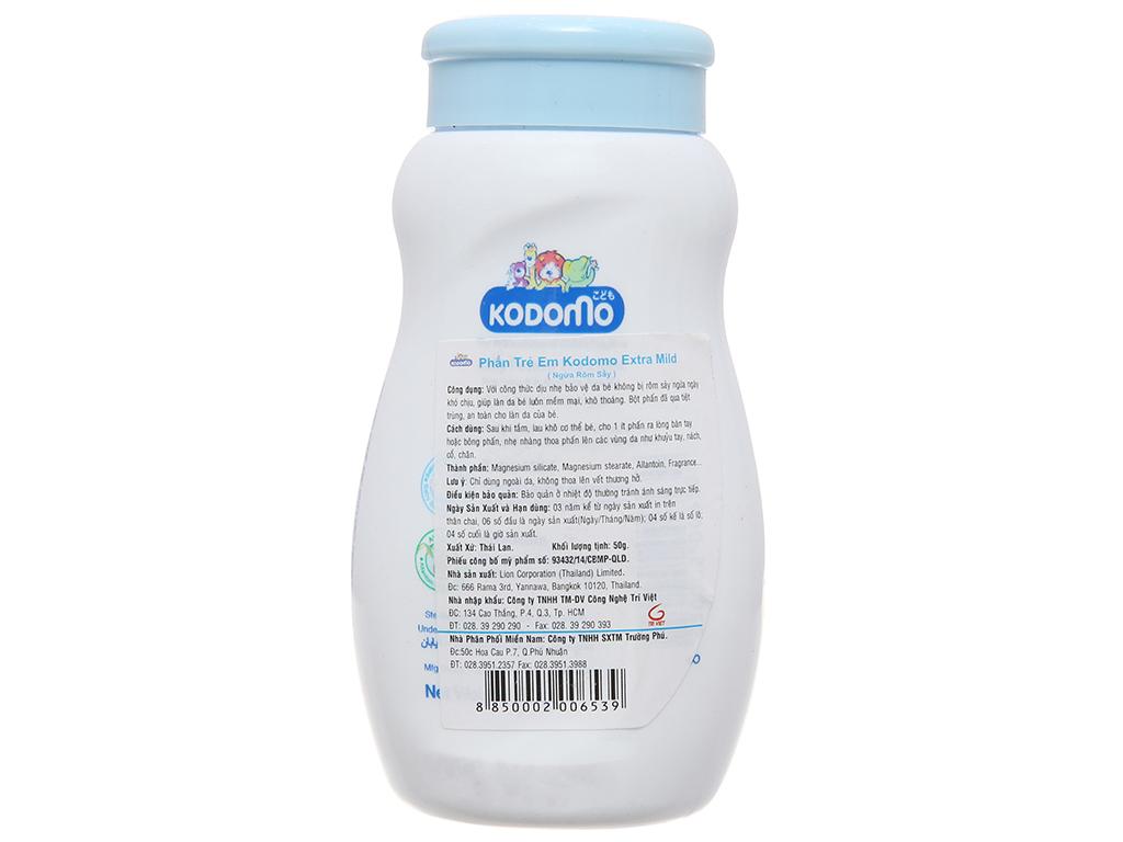 Phấn trẻ em Kodomo Extra Mild ngừa rôm sảy 50g 3