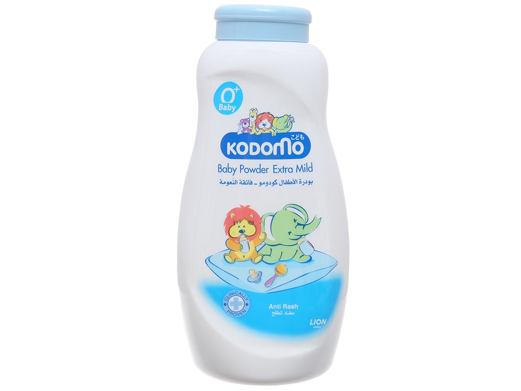 Phấn trẻ em Kodomo Extra Mild (Xanh) ngừa rôm sảy 200g 2