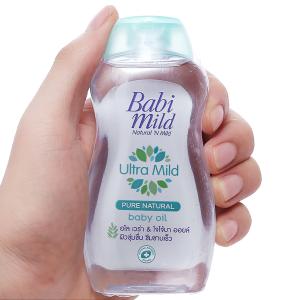Dầu massage và dưỡng ẩm trẻ em Babi Mild Pure Natural 100ml