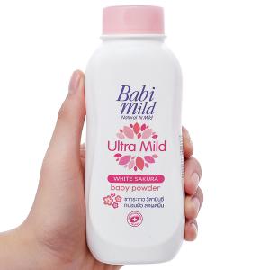 Phấn thơm trẻ em Babi Mild White Sakura 180g