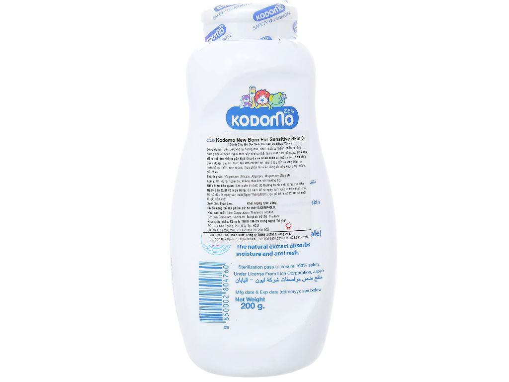 Phấn trẻ em Kodomo dành cho bé sơ sinh có làn da nhạy cảm 200g 2