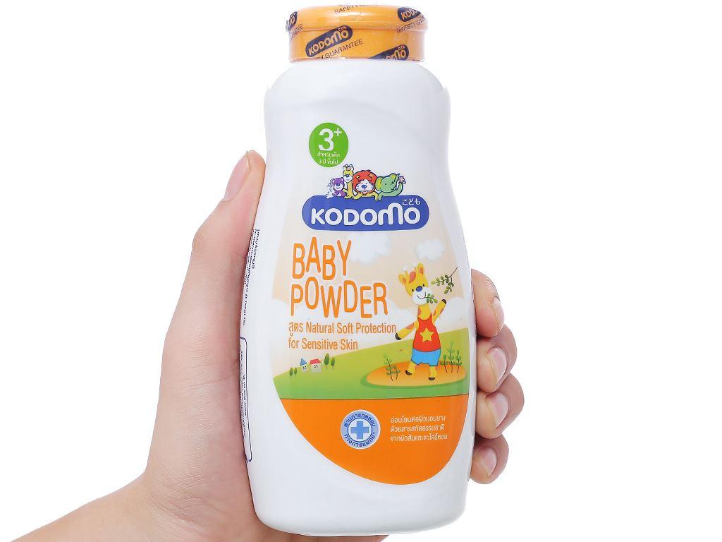 Phấn trẻ em Kodomo dưỡng ẩm ngăn côn trùng 180g 3