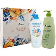 Hộp quà dầu gội Fresh bưởi và sữa tắm sáng da Fresh 550g