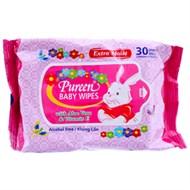 Khăn ướt Pureen Baby Wipes 30 miếng