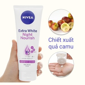 Sữa dưỡng thể Nivea trắng da ban đêm 200ml