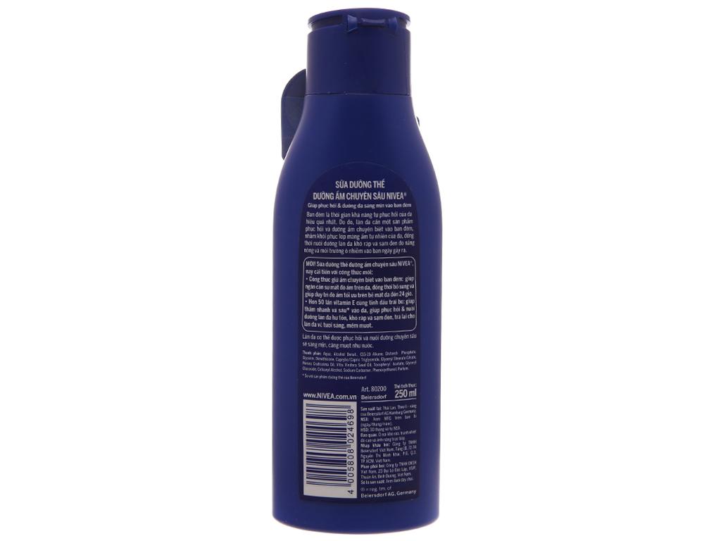 Sữa dưỡng thể Nivea dưỡng ẩm chuyên sâu 250ml 3