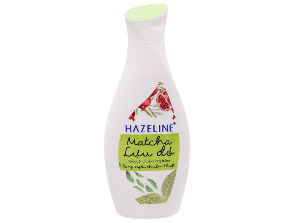Sữa dưỡng thể Hazeline Matcha Lựu đỏ 230ml 2