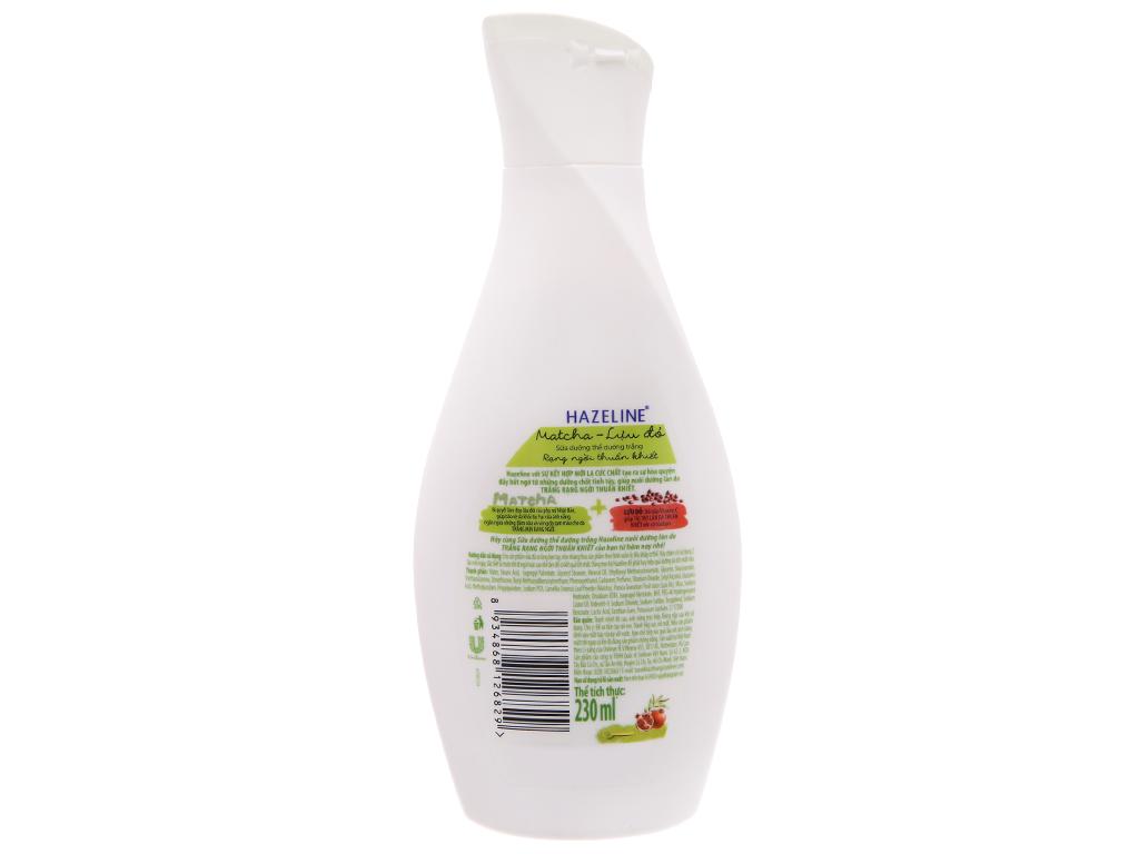 Sữa dưỡng thể Hazeline Matcha Lựu đỏ 230ml 3