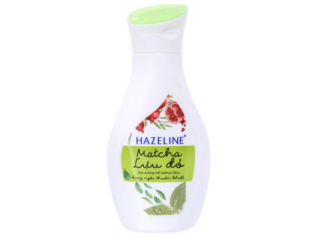 Sữa dưỡng thể dưỡng trắng Hazeline Matcha Lựu đỏ 140ml 2