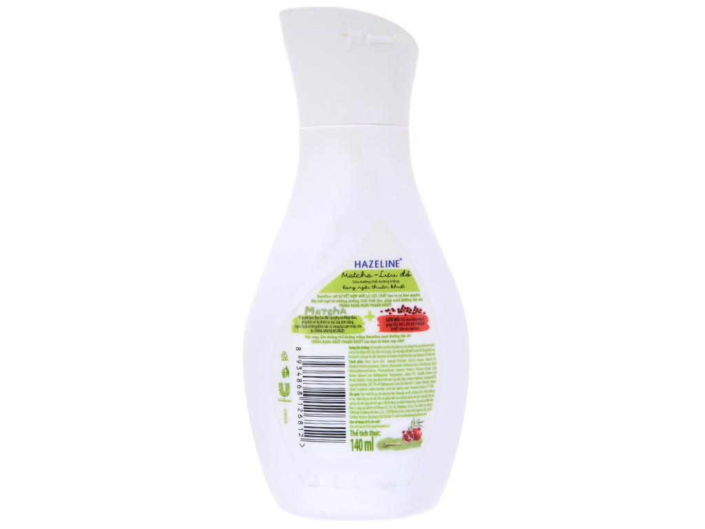 Sữa dưỡng thể dưỡng trắng Hazeline Matcha Lựu đỏ 140ml 3