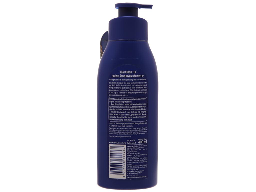 Sữa dưỡng thể Nivea dưỡng ẩm chuyên sâu 400ml 3