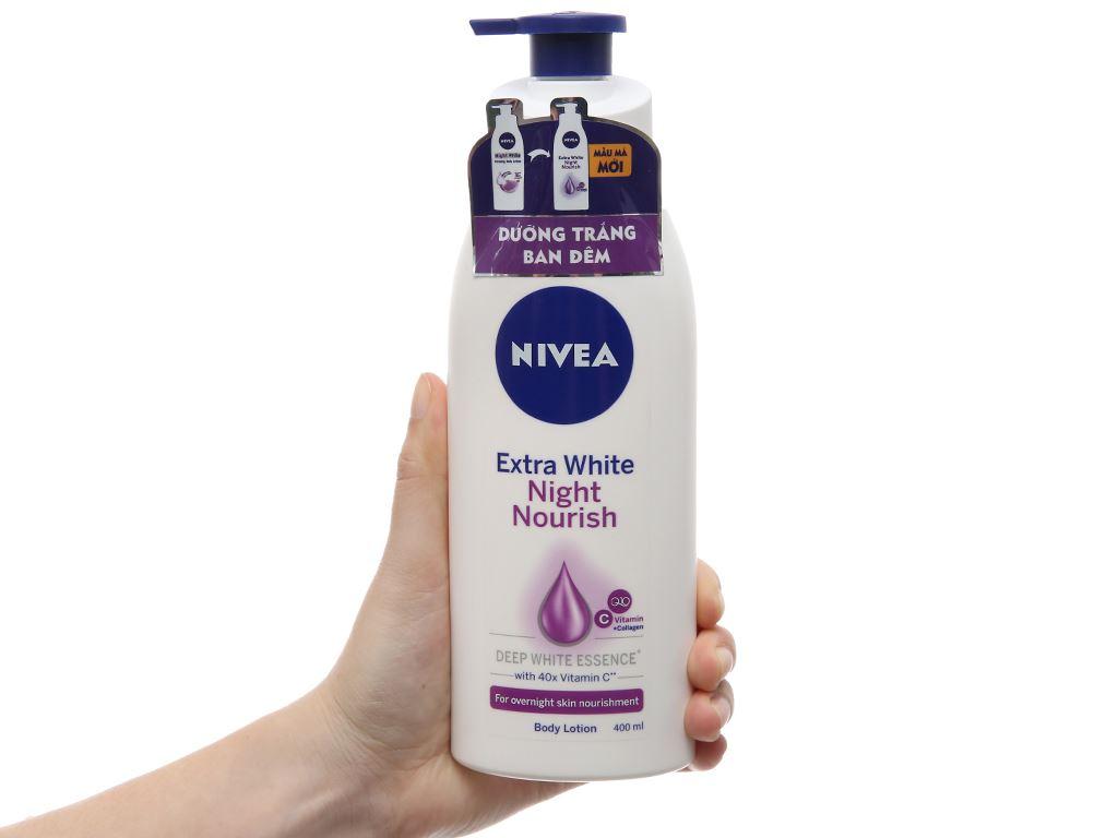 Sữa dưỡng thể trắng da Nivea Extra White Night Nourish 400ml 2