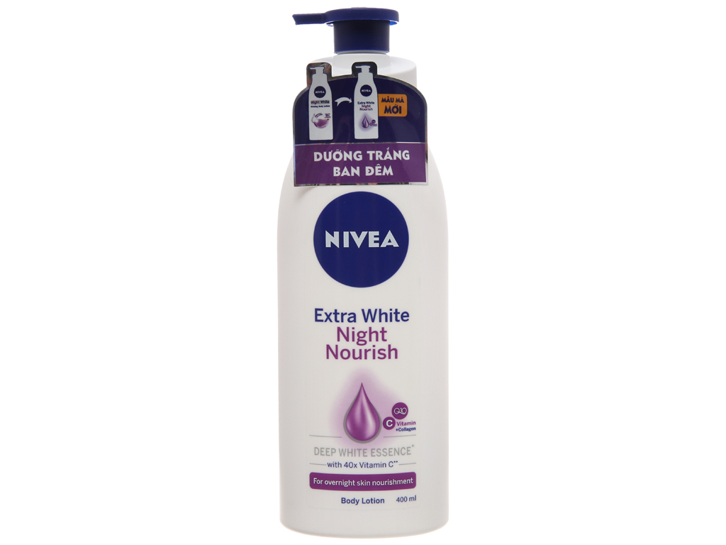 Sữa dưỡng thể trắng da Nivea Extra White Night Nourish 400ml 3