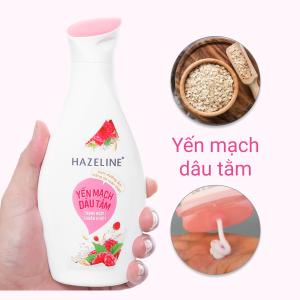 Kem dưỡng ẩm Hazeline trắng da toàn thân yến mạch và dâu tằm 230ml