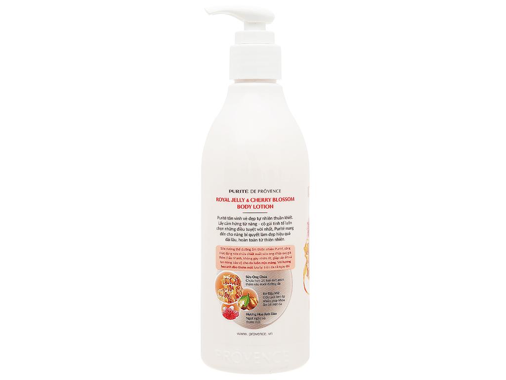 Sữa dưỡng thể Purité dưỡng ẩm sữa ong chúa và hoa anh đào 250ml 3