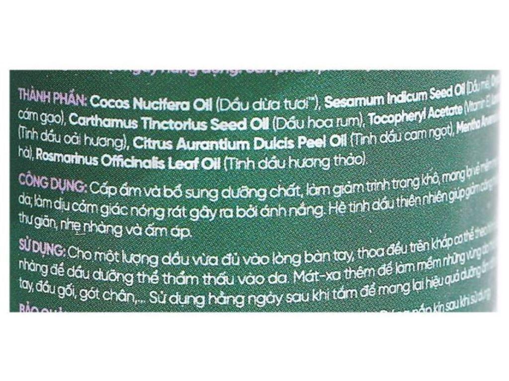 Dầu dưỡng thể Coboté Relaxing dưỡng ẩm 110ml 3