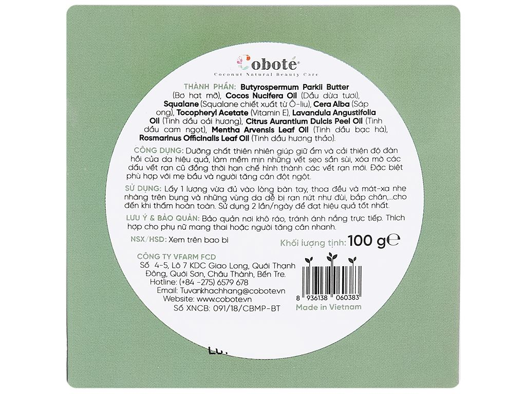 Bơ chống rạn Coboté 100g 1