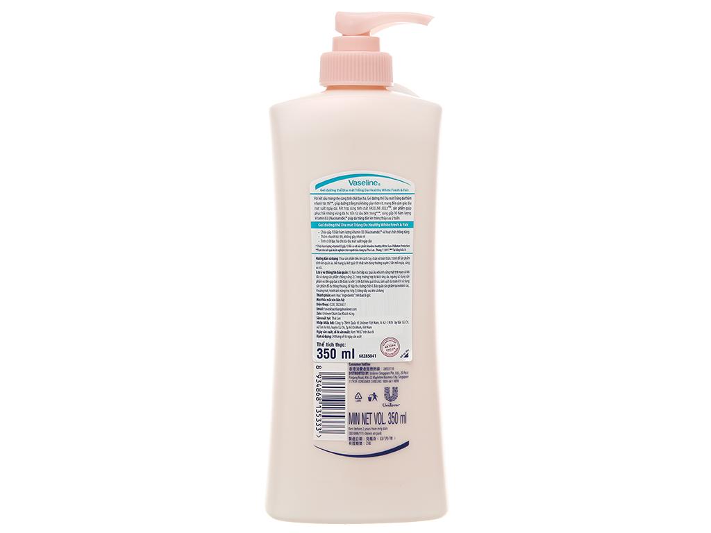 Sữa dưỡng thể Vaseline Fresh & Fair dịu mát trắng da 350ml 2