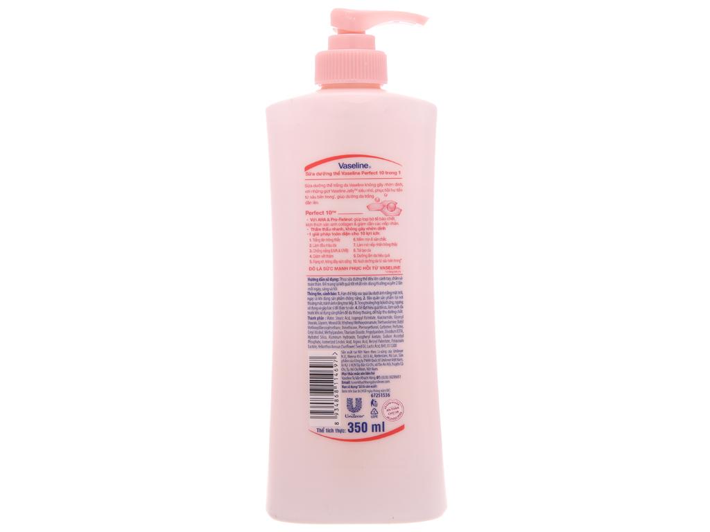 Sữa dưỡng thể trắng da Vaseline Healthy White Perfect 10 AHA & Pro-Retinol 350ml 3