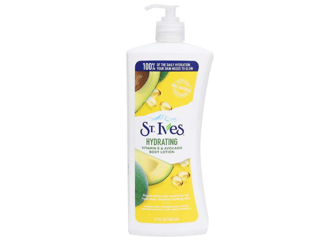 Sữa dưỡng thể ST.IVES Daily Hydrating Vitamin E và bơ 621ml 5