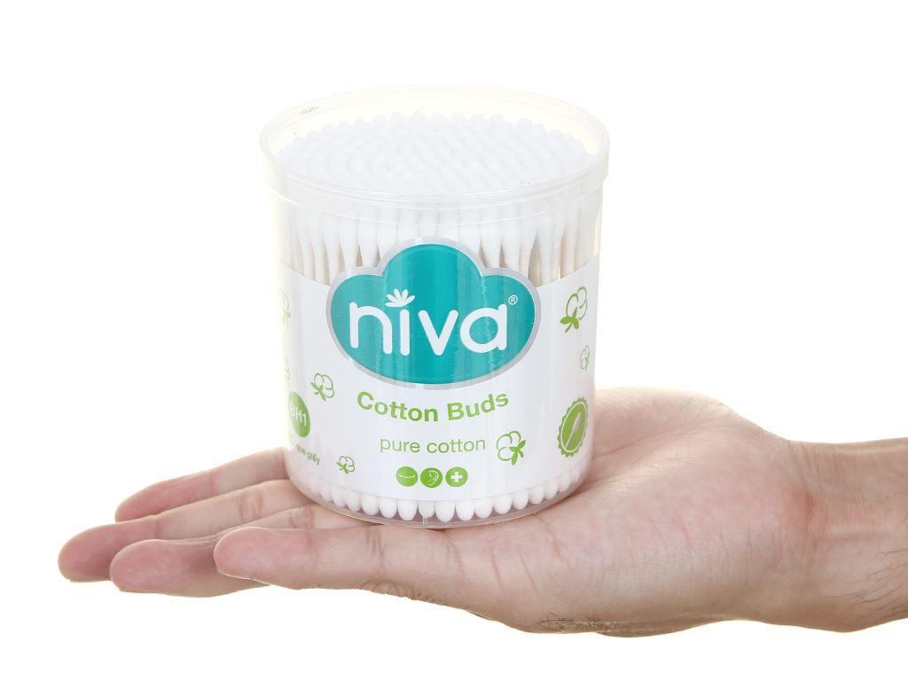 Tăm bông Niva thân giấy bh1 hộp 200 cây 5