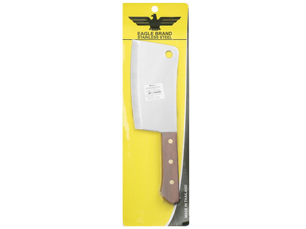Dao chặt thép không gỉ cán gỗ 18cm Eagle 2