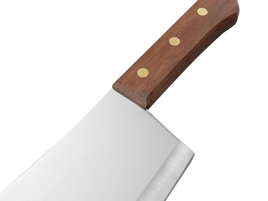Dao chặt thép không gỉ cán gỗ 18cm Eagle 5