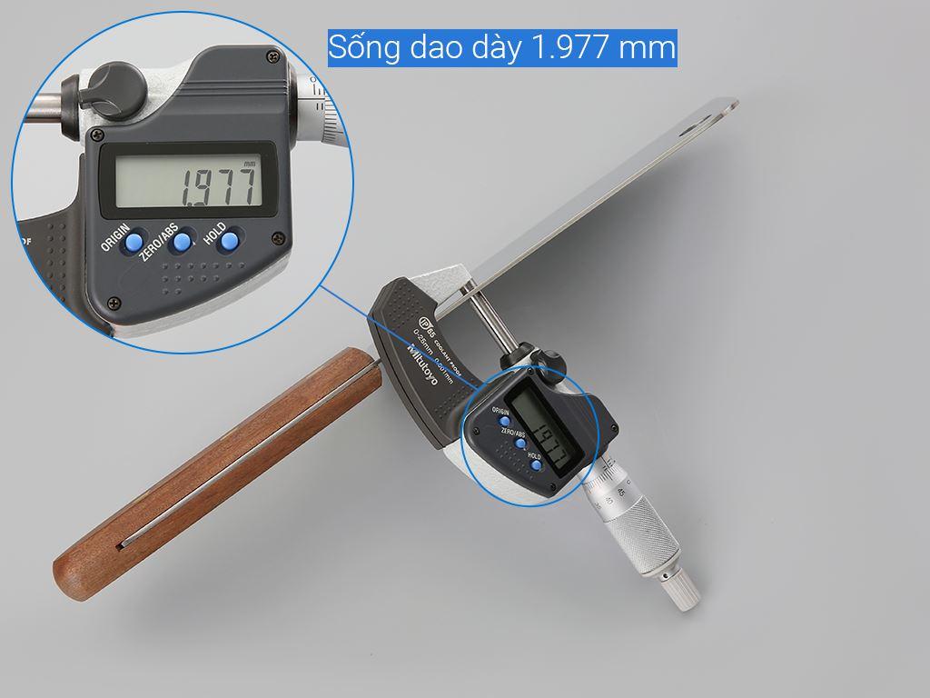 Dao chặt thép không gỉ cán gỗ 18cm Eagle 9