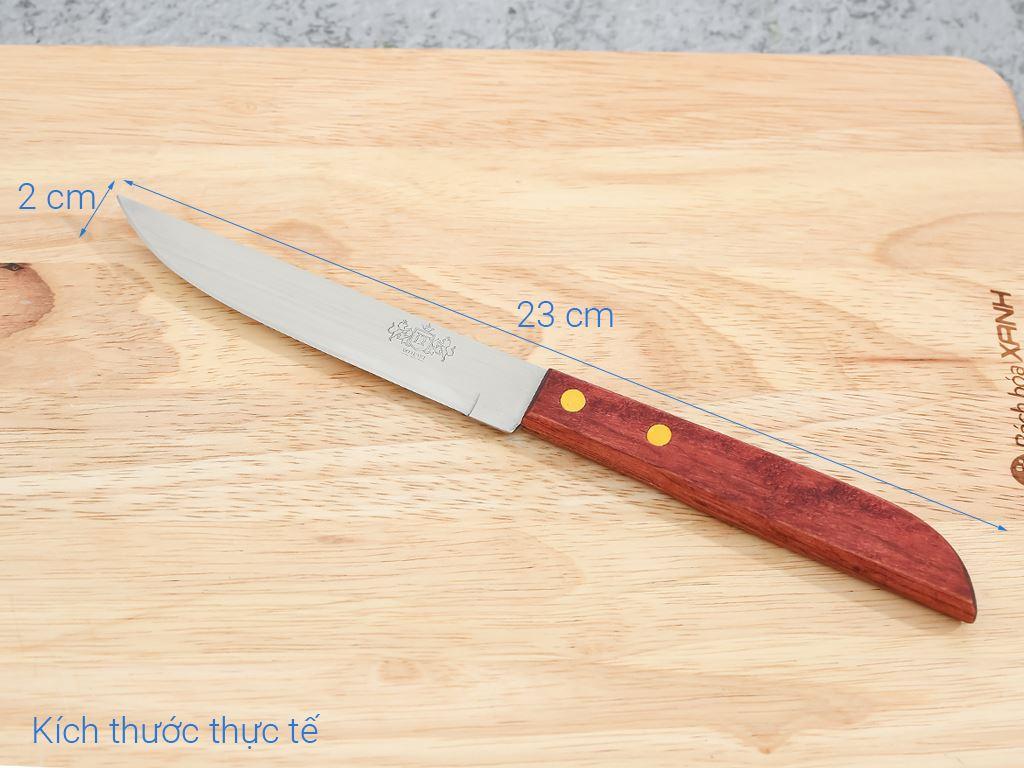 Dao thái thép không gỉ cán gỗ 28cm Tân Bách Phát 501 7