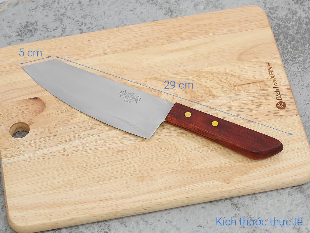 Dao thái thịt thép không gỉ cán gỗ 36cm Tân Bách Phát 173 7